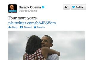 Obama's Victory Tweet Becomes the Most Retweeted Tweet in Twitter History