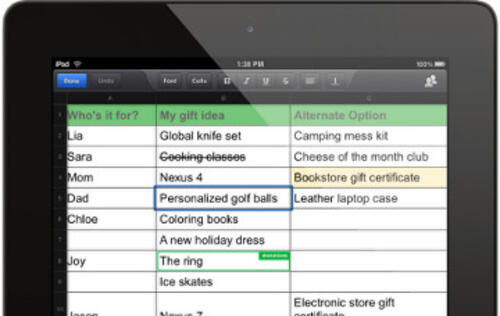 Google Drive Mobile Apps Gets Spreadsheet Editing