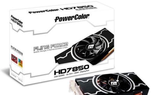 PowerColor Releases Radeon HD 7850 Equipped with Fling Force Cooling Technology