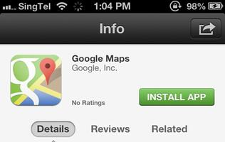 Google Maps App for iOS Available Now