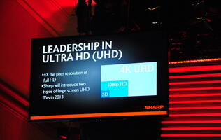Sharp Showcasing New Screen Technologies at CES 2013