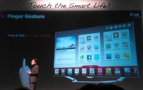 LG's Magic Remote, Finger Gesture and Smart Share Enhance TV Browsing Experience
