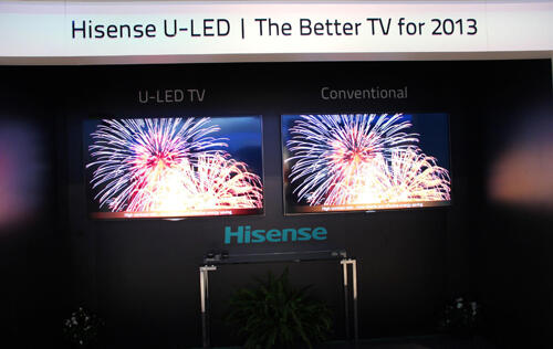 Hisense Debuts U-LED Displays at CES 2013