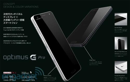 Specs and Image of LG Optimus G Pro Leaked (Update)