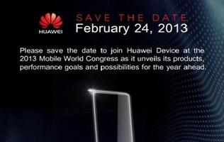 Huawei's MWC 2013 Invites Hint at Multiple Devices
