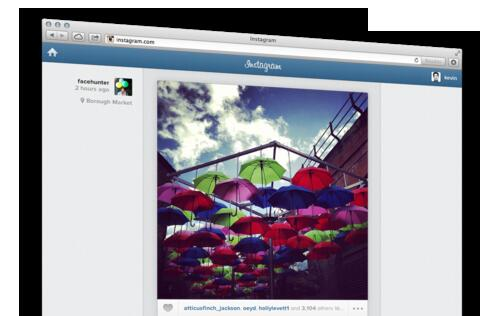 Instagram Now Available on Web