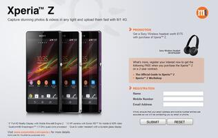 Register Your Interest for the Sony Xperia Z at M1