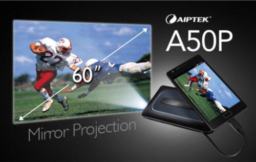 Aiptek MobileCinema A50P Pico Projector Announced