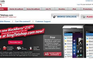 Pre-order the BlackBerry Z10 with Singtel