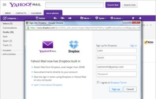 Yahoo Mail Offers Dropbox Integration