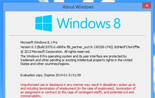 Windows Blue Update Will be Named Windows 8.1
