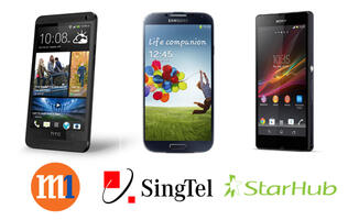 HTC One, Samsung Galaxy S4 and Sony Xperia Z Price Plans Comparison