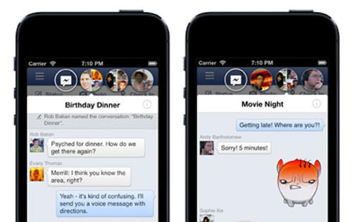 Facebook 6.0 for iPhone & iPad Brings Chat Heads to iOS