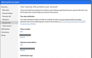 Microsoft Account Gets Two-factor Authentication