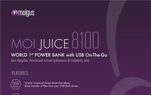 Moigus Moijuice Power Bank Launched