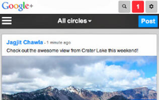 Google Updates Google+ Mobile Website