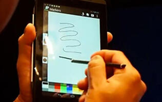 Demo: NVIDIA Tegra 4 Design Platform with Stylus Support