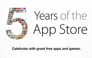 Apple Celebrates 5 Years of the App Store