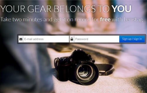 Lenstag Helps Prevent Camera Theft
