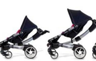 High-tech Revolutionary Stroller with 4moms Origami