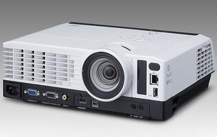 Ricoh's New 'Desk Edge' Projectors Keep Clutter Off the Table by Placing I/Os & Vents at the Front