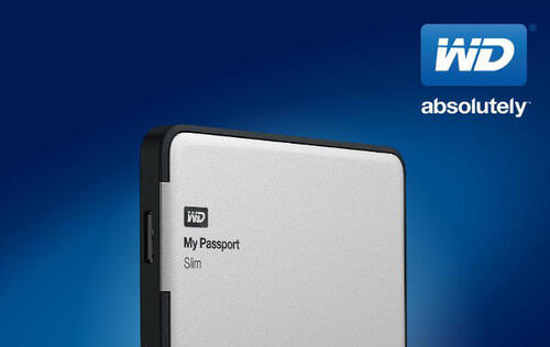 WD My Passport Slim 2TB Drive Features Metal Case and Hardware Encryption (Updated)
