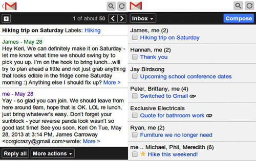Gmail on Feature Phones Now Faster and Easier to Use