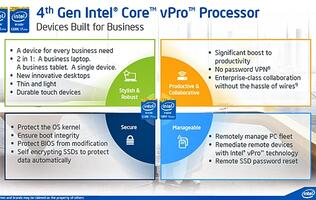Intel Announces 4th Generation Intel Core vPro Enterprise Platform