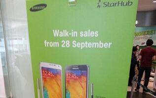 Samsung Galaxy Note 3 Available for Walk-In Customers at StarHub from 28 Sept