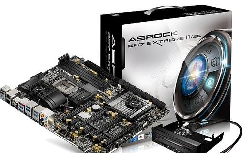 ASRock Announces Extreme Z87 Extreme11/ac Motherboard, with 22 SATA Connectors!
