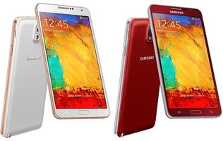 Red and Rose Gold Samsung Galaxy Note 3 Available in Argentina