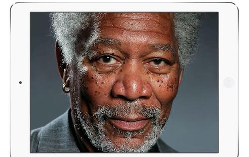 This Morgan Freeman Portrait on the iPad Isn't a Photo, It's Finger-painted