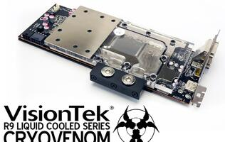 VisionTek Unveils AMD Radeon R9 290 CryoVenom Graphics Card with Water Cooling System