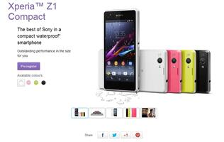Register Your Interest for the Xperia Z1 Compact at Sony Singapore Website
