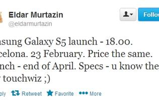 Samsung to Unveil Galaxy S5 on February 23, One Day Before MWC 2014?