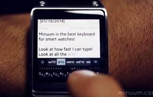 So You Think You Can't Type On A Smart Watch? Minumm Keyboard Proves You Wrong.