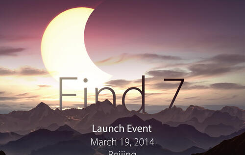 Oppo to Launch Find 7 Smartphone in Beijing on March 19, Likely to Have 2K and 1080p Screen Options