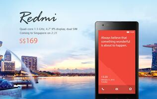 Xiaomi Singapore Website to Sell Redmi and Accessories on February 21