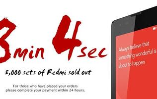 Xiaomi Singapore Sold 5,000 Redmi Phones in 8 Minutes and 4 Seconds