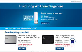 WD Extends Its Online Shopping Experience to Singapore