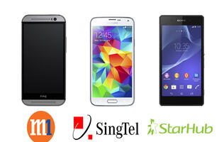 HTC One M8, Samsung Galaxy S5 and Sony Xperia Z2 Price Plans Comparison