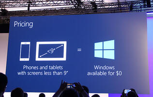 Windows To Be Free for Devices Under 9 Inches