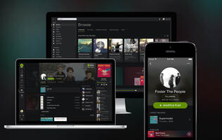 Spotify Paints it Black with New Interface