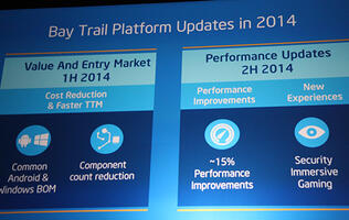 Intel's Bay Trail to Get Two New Updates This Year