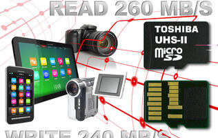Toshiba Announces Launch of the World's Fastest microSD Cards
