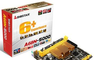 Biostar Releases Fanless, CPU On-board A68N-5000 Motherboard with Graphics