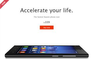 Xiaomi Mi3 Slashed to S$339