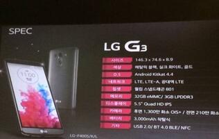 Specs List of LG G3 Leaked, Official G3 QuickCircle Case Announced