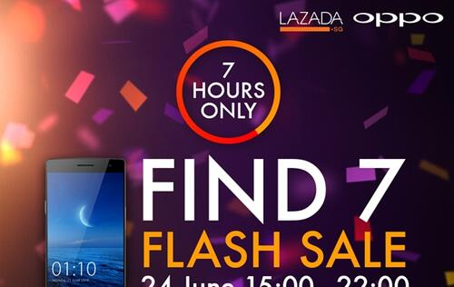 Oppo and Lazada Singapore to Hold Flash Sale for Find 7 Smartphone on June 24