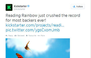 Reading Rainbow Kickstarter Campaign Has the Most Backers to Date